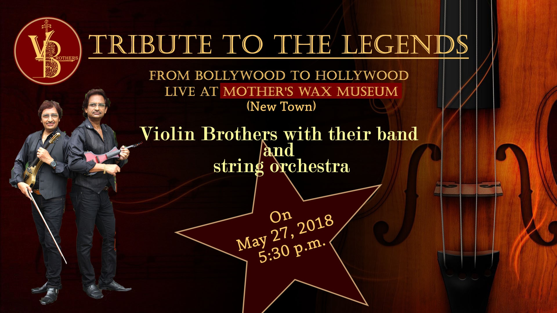 Violin Brothers Poster Designed By Kuldeep Polley